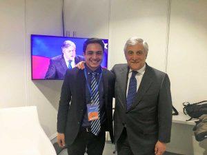 Antonio Tajani con Lorent Saleh