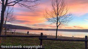 Tramonto al lago di Vico