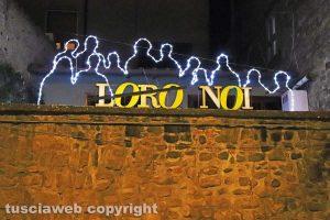 Viterbo - Luminaria, interventi luminosi a San Faustino