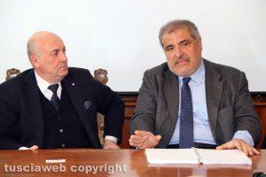 Il prefetto Giovanni Bruno e Lamberto Nicola Nibbi (Anas)