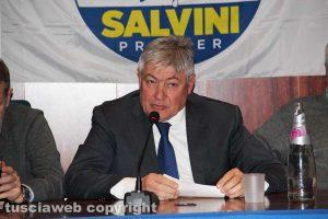 Viterbo - Umberto Fusco alla conferenza alle Terme dei papi