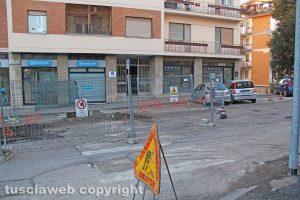 Viterbo - Il palazzo in via Treviso - I lavori della Talete