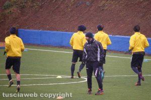 Sport - Calcio - Viterbese - Il primo allenamento diretto da Antonio Calabro
