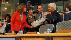 Paolo Bianchini (Alveare per il sociale) al Parlamento europeo con Silvia Costa