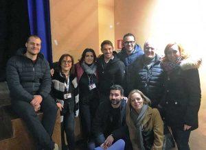 Ronciglione - Giorgio Pasotti insieme all'amministrazione comunale