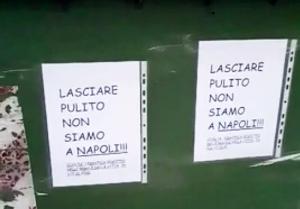 Pordenone - Cartelli shock sui cassonetti