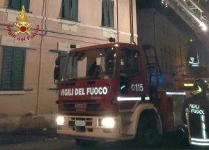 Livorno - L'intervento dei vigili del fuoco