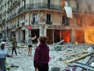 Parigi - Esplosione in zona Opera