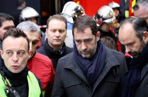 Parigi - Esplosione in pieno centro - Il ministro all'interno Christophe Castaner sul posto