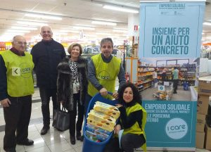 La raccolta dell'Emporio Solidale I Care di Viterbo
