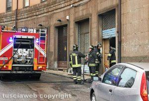 Viterbo - Incendio in via Acerbi
