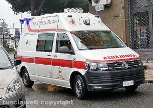 Un'ambulanza della Croce Rossa