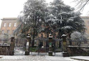 Maltempo - La neve a Viterbo - Il Paolo Savi chiuso