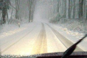 Viterbo - Neve lungo la Cimina