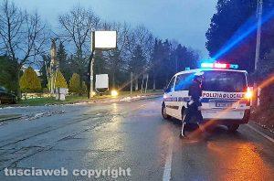 Viterbo - Maltempo - Neve - La polizia locale chiude la Cimina