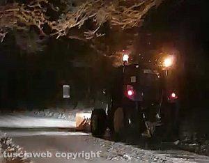Neve sulla Cimina - Uno spazzaneve