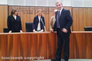 Tribunale - Il giuramento del presidente Eugenio Turco