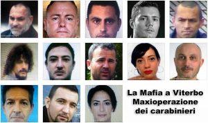Mafia a Viterbo - I tredici arrestati