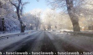 La neve stamani sui Cimini