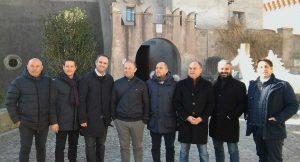 Santa Severa - visita primo ministro di Malta al castello