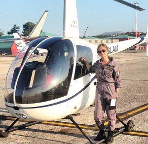 L'elicotterista Rachele Contestabile
