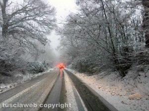 Maltempo - Neve sui Cimini