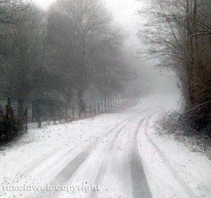 La neve sulla Cimina