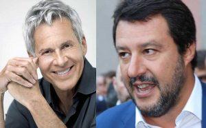 Claudio Baglioni e Matteo Salvini