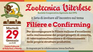"""Incontro di Zootecnica Viterbese sul tema """"Filiere e Confirming"""""""