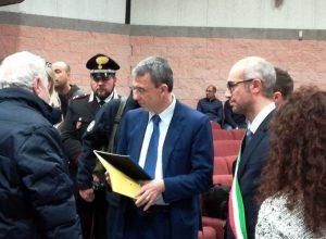 Civitavecchia - Il ministro Costa con il sindaco Cozzolino
