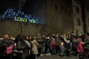 """Viterbo - La manifestazione """"Luminaria, interventi luminosi a San Faustino"""""""