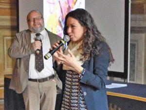 L'assessora Antonella Sberna alla presentazione di Giovani e colori