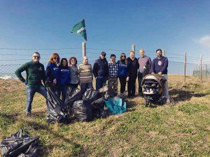 Tarquinia - Saline - I volontari di Fare verde