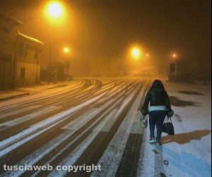 Maltempo - Ha nevicato a Valentano