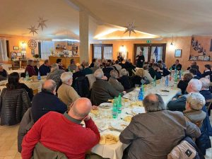 La cena al circolo Fratelli d'Italia di Orte