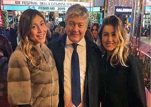 Umberto Fusco al Festival di Sanremo con le figlie