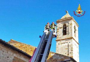 Siena - L'intervento dei vigili del fuoco
