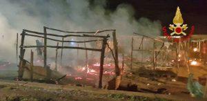 Reggio Calabria - L'incendio della baraccopoli