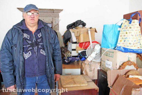 Viterbo - Le condizioni in cui vive Cesare Romano