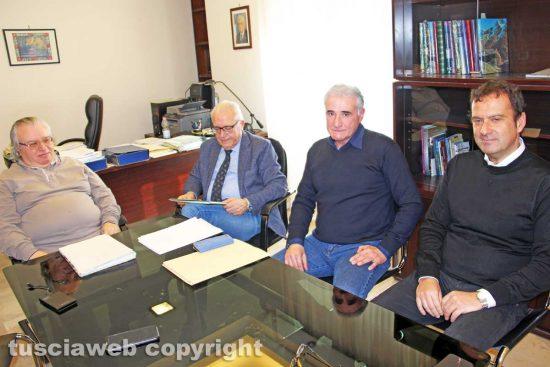 Viterbo - Ivan Grazini assieme a dirigenti e funzionari Ater