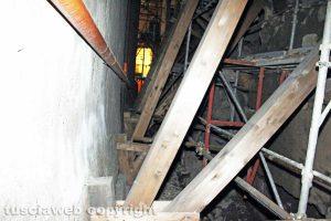 Viterbo - Crollo in via Cardinal La Fontaine