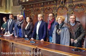 Viterbo - La conferenza stampa di sindaco Arena e capigruppo