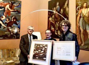 Viterbo - Massimo Alfaioli e  Marco Scarici donano due opere alla fondazione Carivit