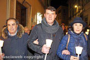 Viterbo - I sindacalisti Fortunato Mannino, Giancarlo Turchetti e Stefania Pomante