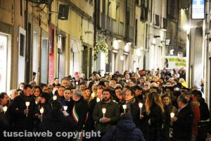 Viterbo - La manifestazione contro la mafia
