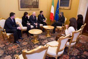 L'associazione nazionale comuni virtuosi con il presidente della Camera Roberto Fico