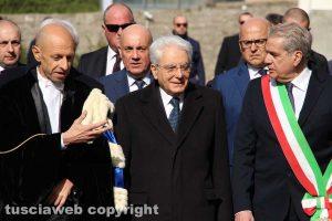 Sergio Mattarella con Alessandro Ruggieri e Giovanni Arena