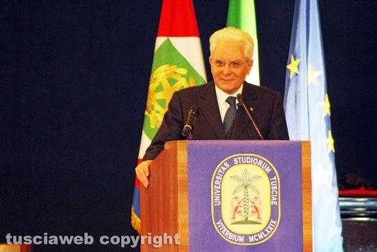 Viterbo - Il presidente della Repubblica all'Unitus