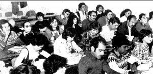Nella foto una delle classi con gli studenti dell'America Latina