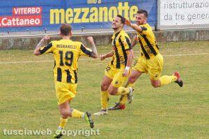 Sport - Calcio - Viterbese - L'esultanza di Radoslav Tsonev